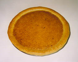 Crimped pie crust, baked