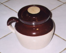 Traditional New England bean pot